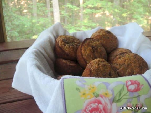 Banana Chocolate Chip Muffins (Gluten Free, Dairy Free, Refined Sugar Free)
