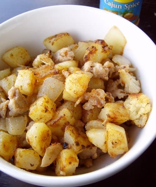 Easy Cajun Skillet Potatoes.