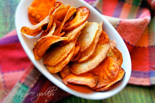 Homemade Potato Chips. Naturally gluten free.
