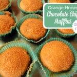 Orange Honey Chocolate Chip Muffins