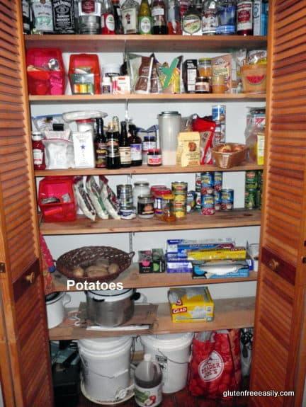 gluten free, dairy free, pantry, gfe, potatoes, staples
