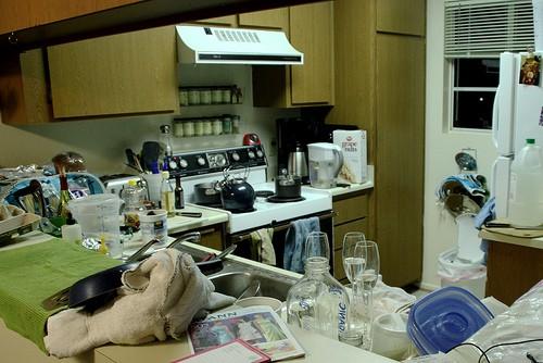 gluten full kitchen, cross contamination