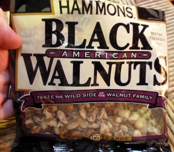 """So much easier than """"processing"""" one's own black walnuts!"""