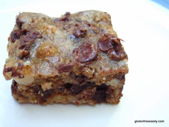Black Magic Bars. Black Walnut Chocolate Chip Oat Bars. [from GlutenFreeEasily.com]
