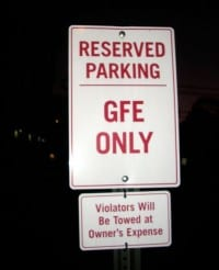 gfe parking only from Cheryl Harris