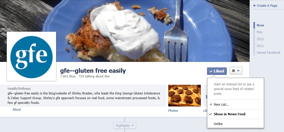 gfe, Facebook, gluten free easily