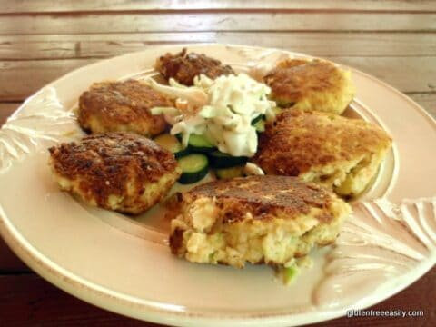 Coconut Popcorn Shrimp Cakes Gfe Gluten Free Easily