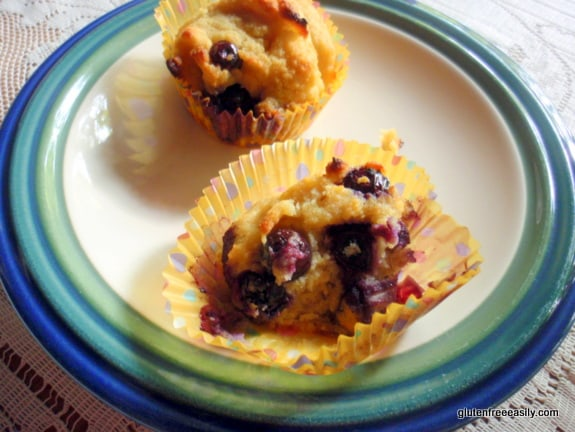 Coconut Blueberry Pound Cupcakes at Gluten Free Easily