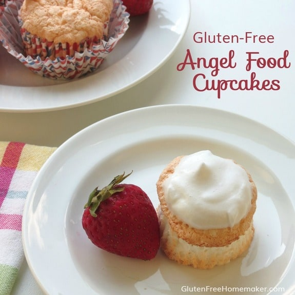 Gluten-Free Angel Food Cupcakes from Gluten-Free Homemaker [featured on GlutenFreeEasily.com]