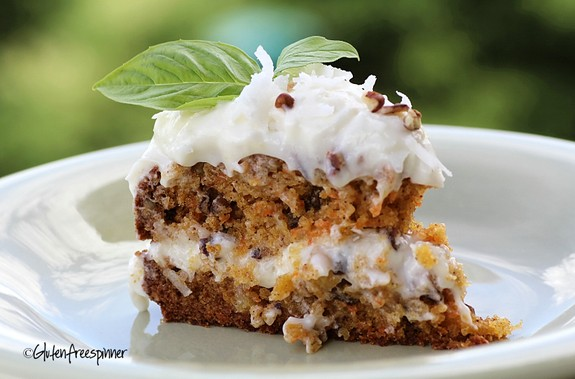 Dreamy Gluten-Free Carrot Cake from Gluten Free Spinner. One of many fabulous Gluten-Free Mother's Day Brunch Recipes!