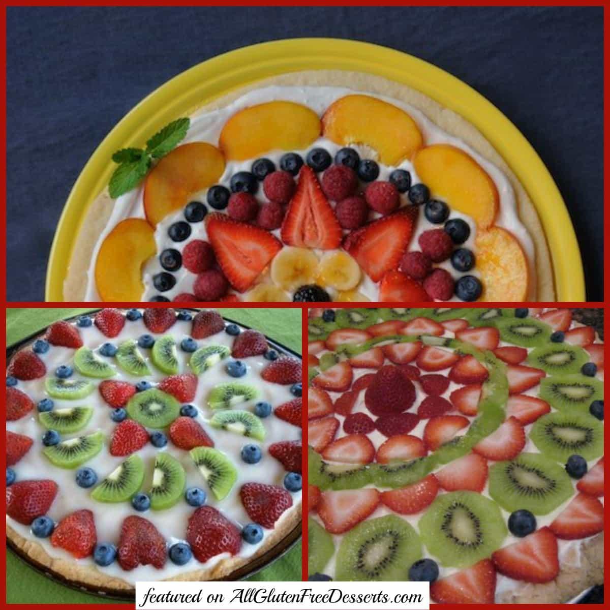 Gluten-Free Fruit Pizza Desserts [featured on AllGlutenFreeDesserts.com]
