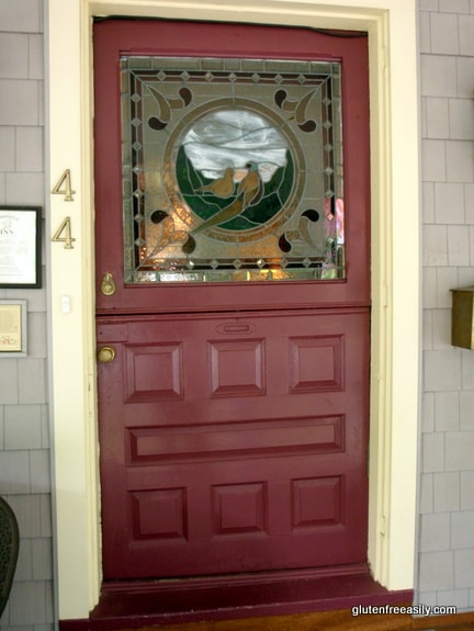 Haddonfield Inn Stained Glass Front Door