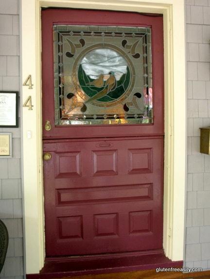 Haddonfield Inn Stained Glass Front Door