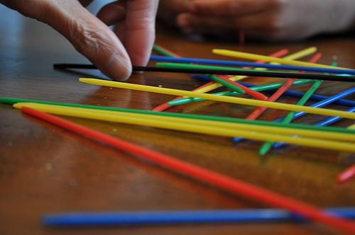Pick-Up Sticks, game, self-care retreat, kid's games