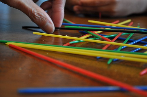 Pick-Up Sticks, game, self-care retreat, kid's games