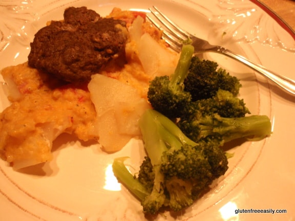 Gluten-Free Sausage and Potato Casserole with Sweet Potato Cream Sauce at Gluten Free Easily