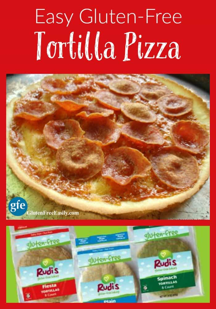 Easy Gluten-Free Tortilla Pizza at gfe--gluten free easily