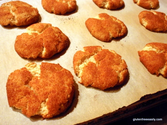 Adopt A Gluten-Free Blogger, The Mommy Bowl, Deanna, snickerdoodles, gluten free, vegan, dairy free, egg free, cookies
