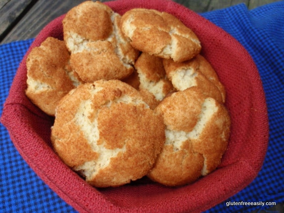 The Mommy Bowl, Deanna, Adopt A Gluten-Free Blogger, snickerdoodles, gluten free, vegan, dairy free, egg free, cookies