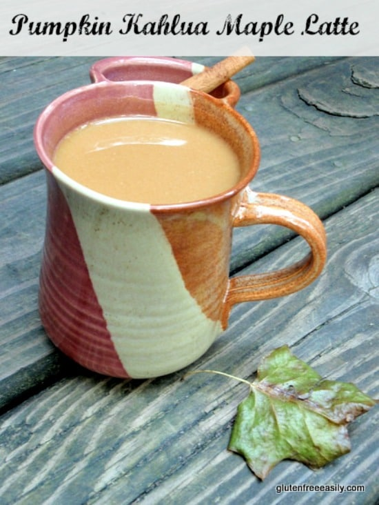 Heaven in a mug, and ideal for fall! Use pumpkin butter for an even richer flavor. Pumpkin Kahlua Maple Latte [from GlutenFreeEasily.com] (photo)
