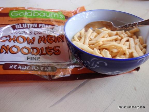 gluten free, grain free, dairy free, chow mein noodles, Goldbaum's