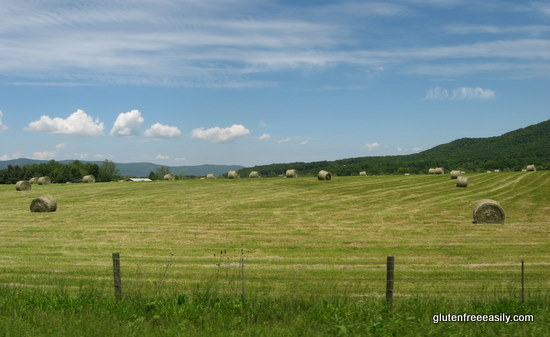 spring, hay, hay bales, mountains