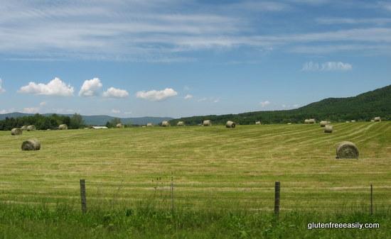 spring, hay, hay bales, mountains