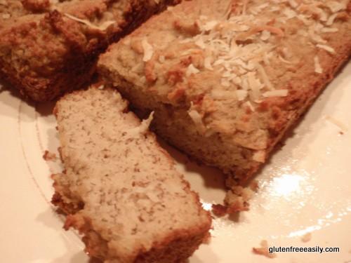 gluten free, grain free, dairy free, refined sugar free, banana bread, coconut, Tasty Yummies, Adopt A Gluten-Free Blogger