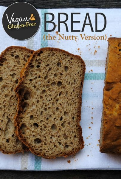 Gluten-Free and Vegan Nutty Bread. This recipe from She Let Them Eat Cake is one of the Top 20 Best Gluten-Free Bread Recipes. [featured on GlutenFreeEasily.com]