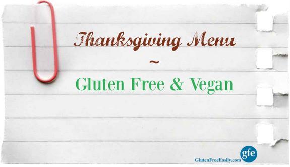 Gluten-Free Vegan Thanksgiving Menu
