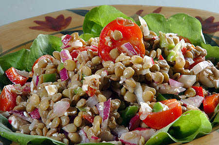 Sprouted Lentil Salad from Dr. Vikki Petersen at HealthNOW