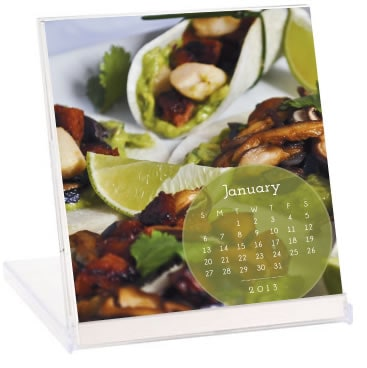 calendar, desk calendar, cookbook calendar, recipe calendar, gluten free, dairy free, vegetarian, vegan, paleo, Diane Eblin, The Whole Gang, giveaway