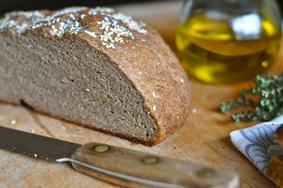Gluten-Free Vegan Farmhouse Seed Bread from Nourishing Meals [featured on GlutenFreeEasily.com]