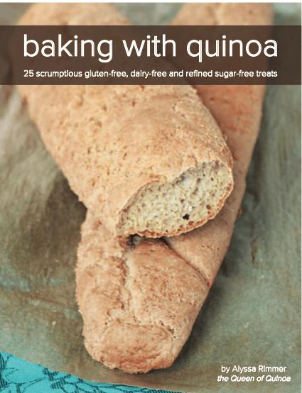 gluten free, treats, desserts, baking with quinoa, recipes, alyssa rimmer, queen of quinoa