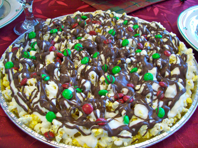 Popcorn Chocolate Candy Christmas Treat from Simply Living Healthy