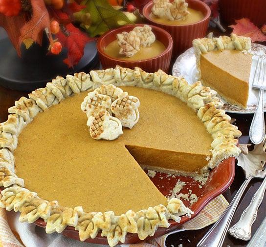 Maple Pumpkin Pie (Gluten-Free Dairy-Free Egg-Free Vegan) from Lexie's Kitchen