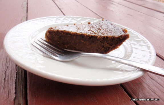 Crustless Pumpkin Butter Pie from gluten free easily