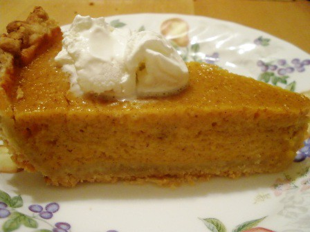 Gluten-Free Pumpkin Pie Totally from Scratch from The Gluten-Free Homemaker