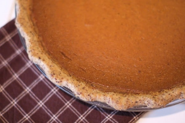 Gluten-Free Vegan Pumpkin Pie from Sarah Bakes Gluten-Free Treats