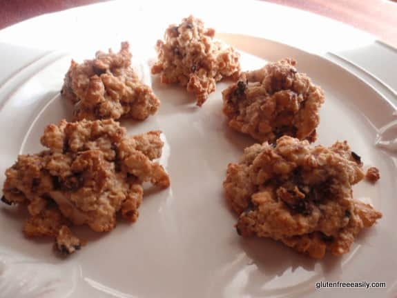 You can make these gluten-free Granola Cluster Cookie Bites just about any way you like and then nibble away. Or drop a few in a bowl, cover them with milk, and enjoy some granola cereal! [featured  on GlutenFreeEasily.com]