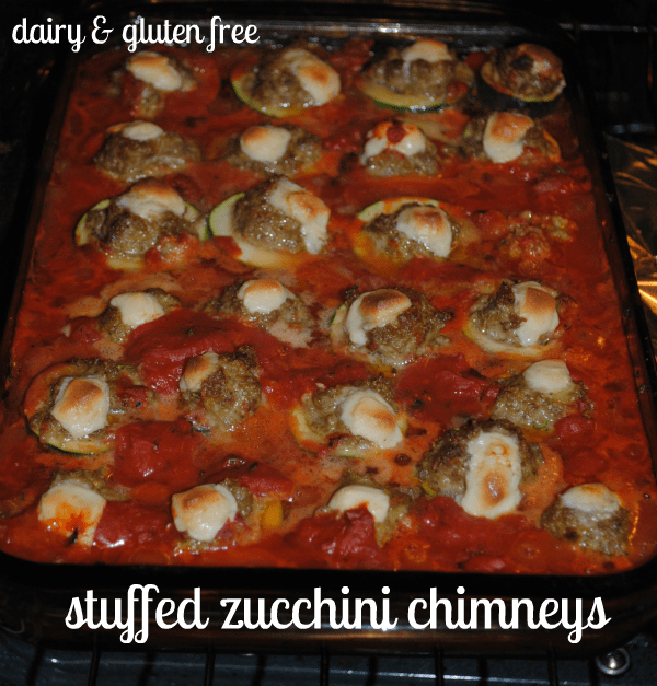 gluten free, dairy free, zucchini, stuffed, Daiya cheese, The Whole Gang