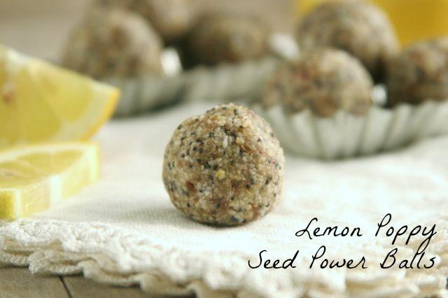 Gluten-Free Nut-Free Lemon Poppy Seed Power Balls from Daily Bites