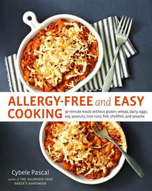 gluten free, dairy free, egg free, soy free, nut free, allergy free, cybele pacal, Allergy-Free Easy Cooking, cookbook, giveaway