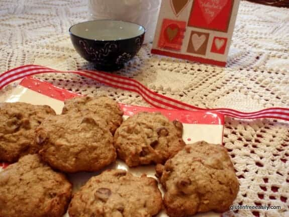 gluten free, dairy free, cookies, oatmeal, chocolate chip, recipe, desserts, Suite of Sweets for Sweethearts
