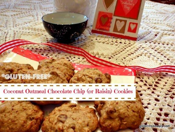 Coconut Chocolate Chip Oatie Cookies [from GlutenFreeEasily.com] (photo)