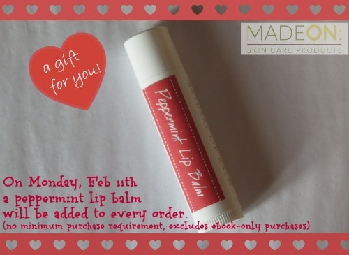 MadeOn Skin Care Products, gluten free, dairy free, lip balm, coconut, beeswax