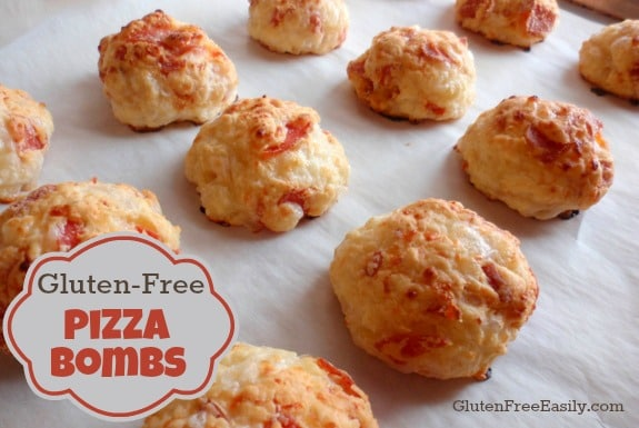 Pizza Bombs from gluten free easily