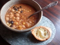 gluten free, dairy free, vegetarian, vegan, Meatless Monday, soup, pantry soup, quick and easy, cabbage, Bloody Mary, beans, recipe