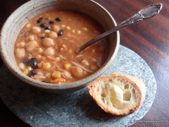 """Bloody Mary-Sweet Potato-Cabbage """"Noodle""""-Bean-and-Veggie Soup"""