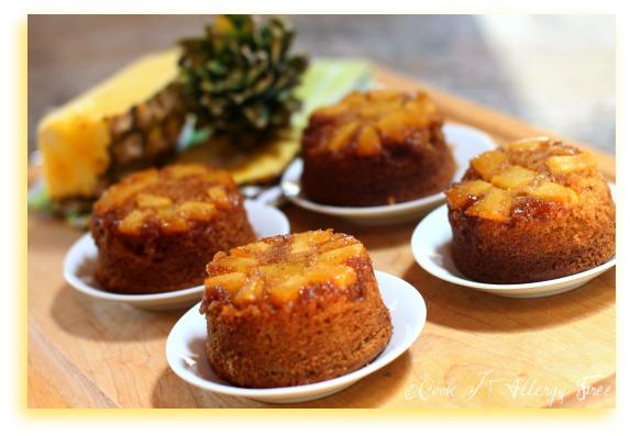 Mini Gluten-Free Pineapple Upside Down Cakes
